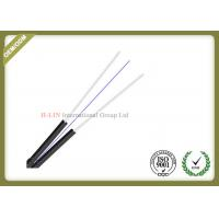 China 1 / 2 / 4 Core Fiber Optic Drop Cable PVC Material Jacket  With Butterfly Flat Construction wholesale