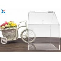 China House Shape Clear Acrylic Gift Boxes Candy Container Non Toxicity For Retail Store wholesale