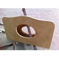 China Sunny Beige Marble Vanity Tops 22 Wide With Basin Hole , SGS CE Listed on sale
