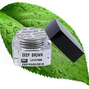 China Lushcolor Pigment Permanent Makeup Pigments Professional Microblading Pigment 5ml Deep Brown wholesale
