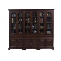 China Home Office Study room furniture American style Big Bookcase Cabinet with Display chest can L shape for corner wall case wholesale