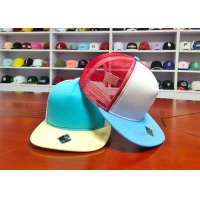 China Hot sales high quality mix color blank custom private labels 6panel flat bill snapback hats caps wholesale