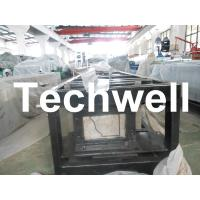 China Steel 0.3mm - 0.6mm Mobile / Portable Gutter Roll Forming Machine for Rainwater Gutter wholesale