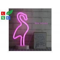 China Countertop Desktop LED Channel Letter Signs Custom Led Neon Signs With Metal Table Stand wholesale