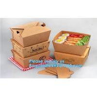 China Disposable Custom Printed Food Kraft Lunch Paper Box For Food,Cardboard Paper Salad Box With Logo Printing bagease packa wholesale