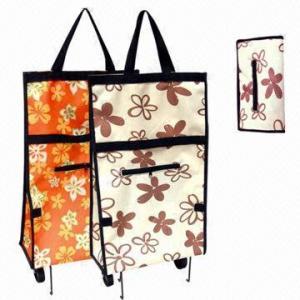 China Folding Wheel Shopping Trolley Bag, Measures 50x32x15cm wholesale