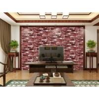 China Fireproof Removable 3d Wallpaper For Room Wall , Red Vinyl Wall Covering wholesale