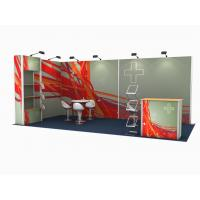 China 10 * 20 Ft Trade Show Exhibit Displays Aluminum Tube High Tension Fabric wholesale