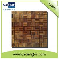 China Solid wood mosaic tiles for wall decoration wholesale