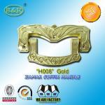China Ref H008 Gold Size 19 X 11 Cm Casket Handles , Zinc Alloy Coffin Accessories wholesale