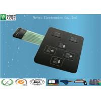 China 3D Square Keys Embossing Membrane Switch With ChangJiang Brand Female 2.54, 4 Pin Connectors wholesale