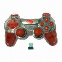 China 2.4GHz Wireless Computer Game Controller with 15m Link Distance wholesale