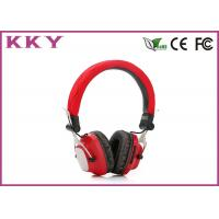 China Fashion Design Portable Bluetooth Headphones , Red Wireless Earphone For Mobile wholesale