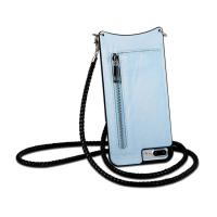 China Cross Body Design Leather Phone Cases , Wallet Phone Case With Shoulder Strap on sale