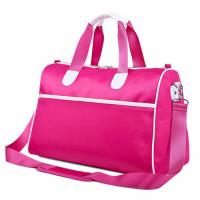 China Pink Custom Duffle Bags with Adjustable Shoulder Strap , Collapsible Travel Bag wholesale