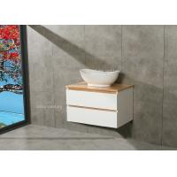 China Timber Countertop Single Bowl Bathroom Vanity DTC Metal Runners 800*510*500mm wholesale