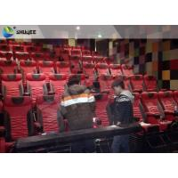 China Extraordinary Sound Vibration 4D Movie Theater With Black Vibration Chairs wholesale