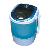 China Blue Portable Quiet Single Tub Washing Machine With Dryer 2.8 Kg Transparent Plastic Cover wholesale
