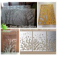 China Tree Aluminum perforated sheet for facade cladding fence with 2mm thickness laser cutting wholesale
