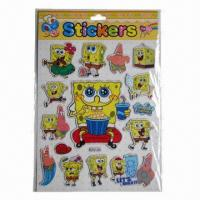 China Shinning puffy stickers, eco-friendly, easy to apply and remove wholesale