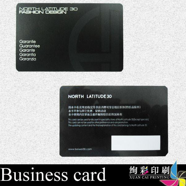 Black Spot UV Gloss PVC Business Cards Foil Stamping