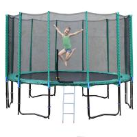 10 Foot Kids Trampoline With Enclosure Safety EPE Foam