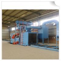 China Steel structure H beam shot blasting machine / Roller Conveyor Sand Blasting Machine on sale