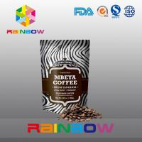 China Stand Up Plastic Pouches Packaging Aluminum Foil Coffee Beans Bag With Valve And Zipper wholesale