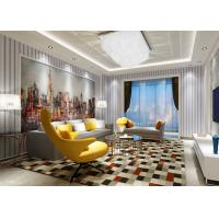 China Removable Modern Striped Contemporary Wall Coverings for Bedding Room , 0.53*10M on sale