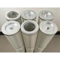 China Air Pleated Filter Cartridge Dust Collector For Spray Booths Wood Working on sale