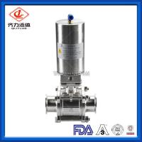 China 3PC  Hygienic Ball Valve Low Pressure PTFE Sealing High Polished Dust Proof wholesale