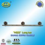 China H023 metal coffin long bar made of zamak zinc herrajes de ataudes 1 meter with 3 bases wholesale
