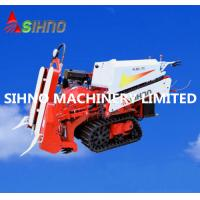 China Farm Machinery Half Feed Mini Rice Wheat Combine Harvester for Sales wholesale
