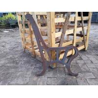 China Vintage Antique Park Bench Ends For Street Decoration , Cast Iron Bench Parts wholesale
