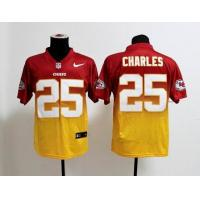 China NFL Kansas City Chiefs 25 Charles Drift Fashion II red yellow jersey wholesale