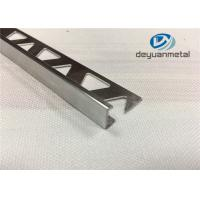 China Bright Silver Aluminium Trim Extrusion Profile With Triangle Punched wholesale