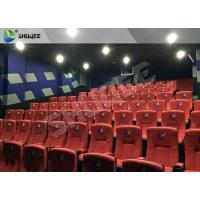 China New Design 4D Movie Theater Red Chairs Pneumatic System / Hydraulic System wholesale