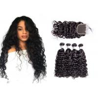 China Smooth Brazilian Water Wave Hair Weave / Unprocessed Remy Water Wave Weave wholesale