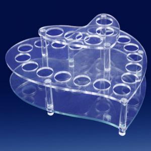 China Heart Shape Clear Acrylic Cosmetic Display,Plexiglass Makeup Holder wholesale
