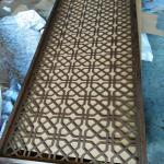 China hot sale aluminium decorative wall panel metal perforated aluminium screen partition wholesale