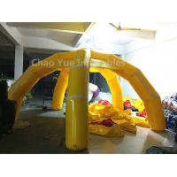 China 5m Yellow 5 Legs Airtight Inflatable Marquee with air pump wholesale