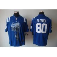China Nike NFL Indianapolis Colts 80 Fleener blue Helmet Tri-Blend Jersey www.doamazingbusiness. wholesale