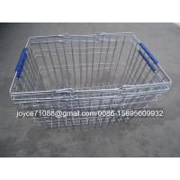 China Colored Chain Shops / Supermarket Shopping Baskets ISO9001 Certification wholesale