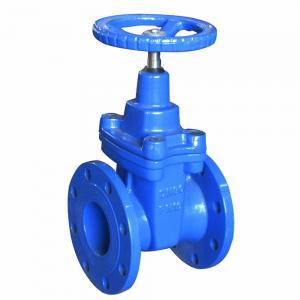 China Cast Iron Blue Pneumatic Gate Valve Handwheel DN50 - DN600 For Pneumatic Actuator wholesale