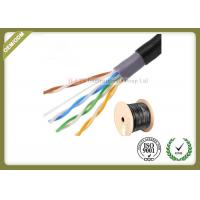 China Outdoor water blocking oxygen free copper shielded Cat5e  UTP cable 305M 0.5mm diameter on sale