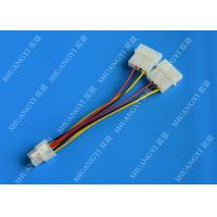 China 6 Pin PCIe to 2x Molex Power Cable - 6 Inches Dual 4Pin Molex Connector wholesale