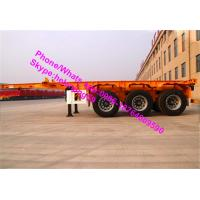China 3 Axles 40ft Container Chassis Skeleton Semi Trailer Trucks With Twist Lock wholesale