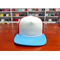 China High Quality 100% Cotton Mix Color Back Mesh Custom design logo Flat Bill  Snapback Caps Hats wholesale