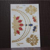 China 3D metallic gold and sivler foil temporary tattoo wholesale