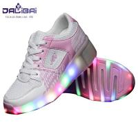 Quality Comfortable Lining Led Light Up Shoes Kids Roller Skate Shoes , Pink for sale